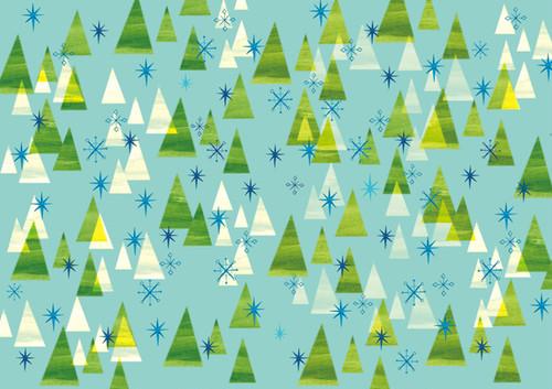 ポスター 冬の森 (A3)