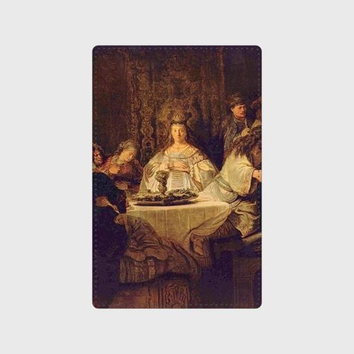 Simson, an der Hochzeitstafel das Ratsel aufgebend Card