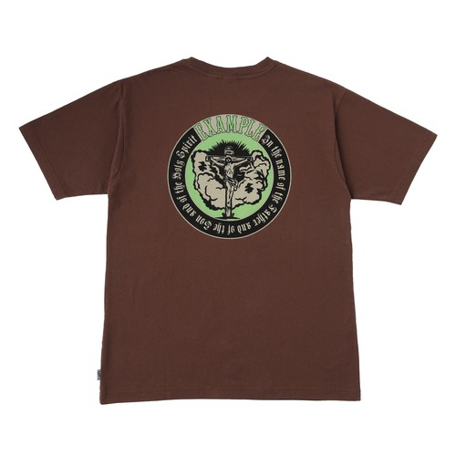 EXAMPLE CHRIST ARCH LOGO S/S TEE / BROWN