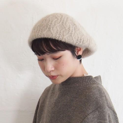【BuLuKa(ブルカ)】編み柄アンゴラベレー 81-9501