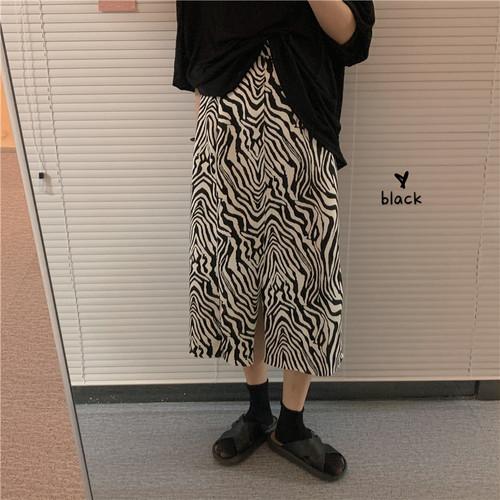 ゼブラ柄ロングスカート1011-200808002