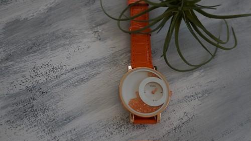 腕時計 sun&moon オレンジ