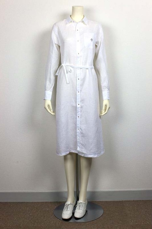 【SAMPLESALE50%OFF】East London One-piece Canclini Linen 品番:871504 col.10 White