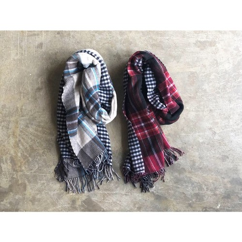 SOIL (ソイル) DOUBLE FACE CHECK STOLE