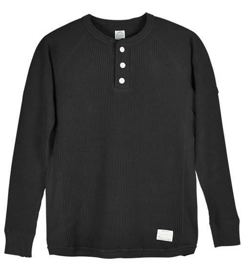 SD Waffle Thermal Henley Neck