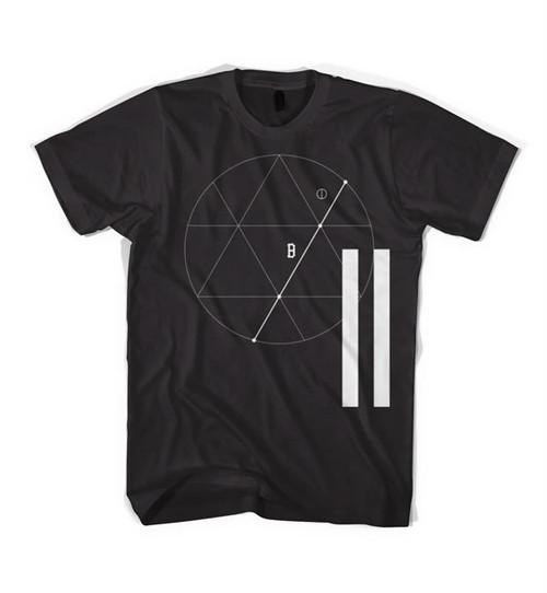 BLACK SCALE(Tシャツ 半袖)TRES ÁNGULOS T-SHIRT BLACK ブラックスケール 4767