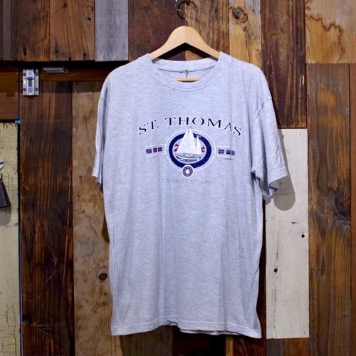 1990~ U.S. Virgin Islands ST.THOMAS Souvenir T-Shirt / US ビッグ シルエット Tシャツ