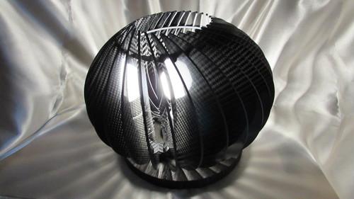カーボン球体テーブルランプ