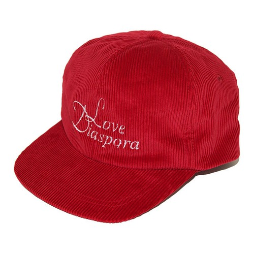NOROLL Love Diaspora Corduroy 6-Panel (Red)