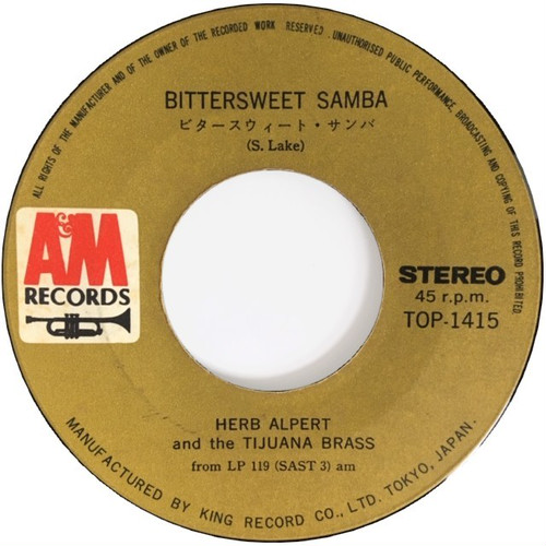 Herb Alpert & The Tijuana Brass ‎– Bittersweet Samba / Lollipops And Roses