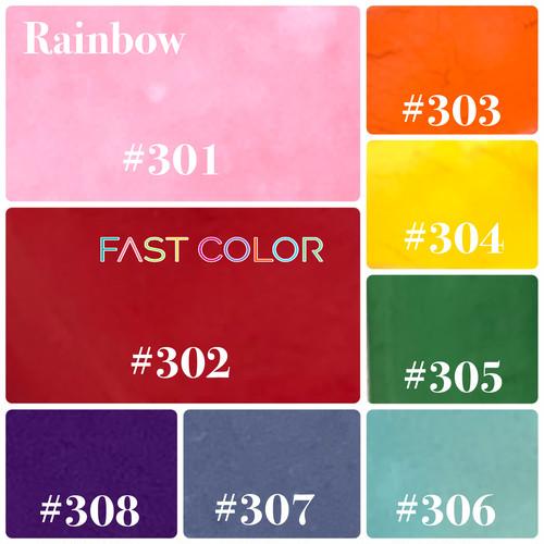 【レインボー】301〜FAST COLOR ファストカラー 各5g×8色セット【合計40g】