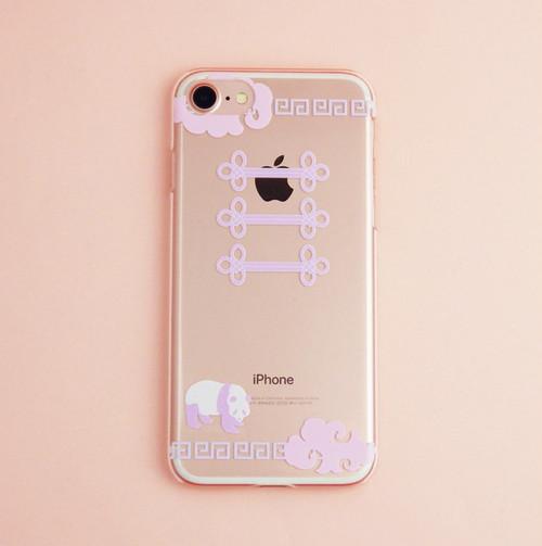 ❤︎Yumekawa China❤︎ iPhoneケース(クリア)