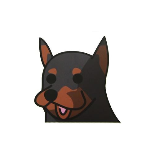 ドーベルマン(大)     犬ステッカー