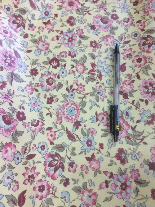 ラミネート生地 moda 花柄 10センチ