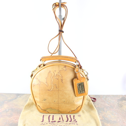 .PRIMA CLASSE MAPS MATTERNED 2WAY SHOULDER BAG MADE IN ITALY/プリマクラッセ地図柄2wayショルダーバッグ 2000000047737