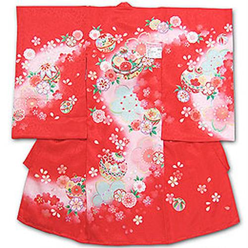 お宮参りお祝い着(初着) 女児 7-185帽子セットプレゼント