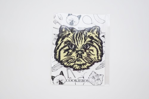 CAT APPLIQUE(Bob)YELLOW