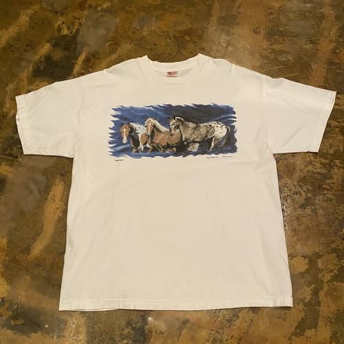 90s Print T-shirt / Horse