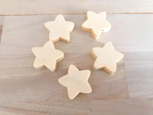 星のウッドパーツ 5個