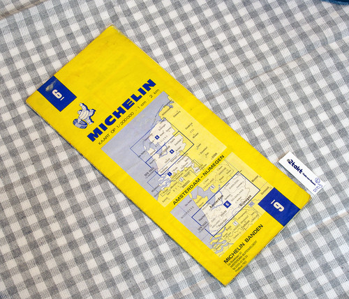 【Vintage/Used品】1980 MICHELIN MAP No.6 オランダ中部 AMSTERDAM-NIJMEGEN /0103
