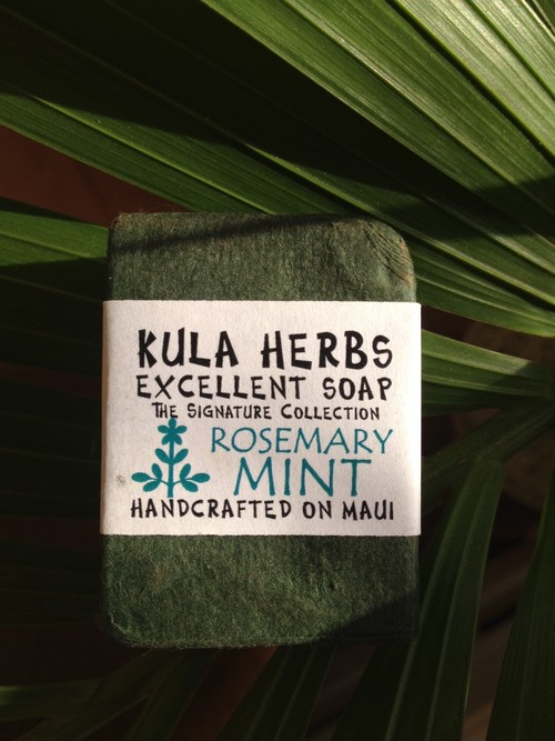 KULA HERBS    EXCELLENT SOAP  rosemary mint 4oz(120g)
