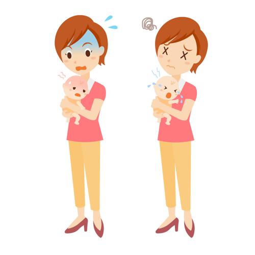 子育て 女性 表情 全身 セット