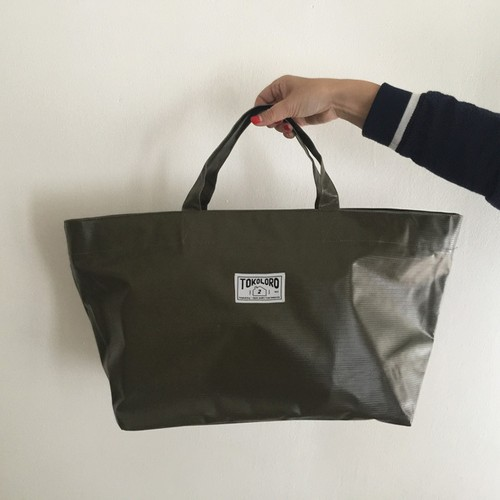 Tarpaulin Tote Bag 【Khaki】