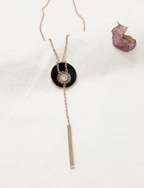 (サージカルステンレス)リバーシブルYドロップネックレス ネックレス  韓国ファッション