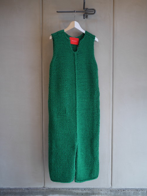 THE MERMAID / KNIT SLEEVELESS OP (GREEN)