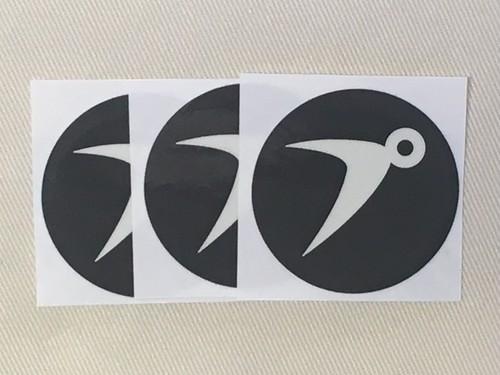 まるプ ステッカー 【ブラック】 3枚SET