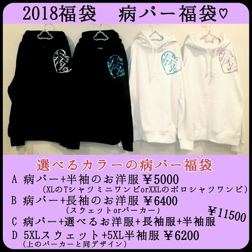 福袋B♡病パー+色の選べる長袖のお洋服♡2着セット