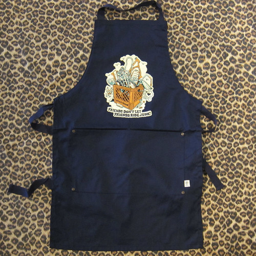 Cycle Trash 21th anniversary Shop Apron ver.2 - Crate/Navy by Burrito Breath