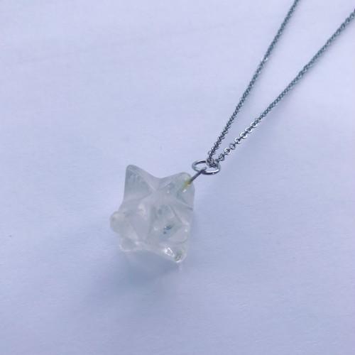星型八面体 水晶ネックレス