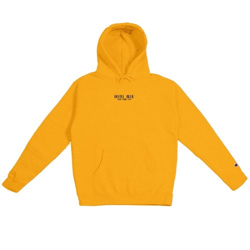 HOTEL BLUE LOGO Champion Hoody Gold L