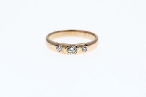 K18 PG 0.235ct 0.08 ダイヤモンドリング ●