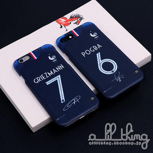 「WC2018」フランス ロシアW杯 ワールドカップ ホームユニフォーム アントワーヌグリーズマン サイン入り iPhoneX iPhone8 ケース