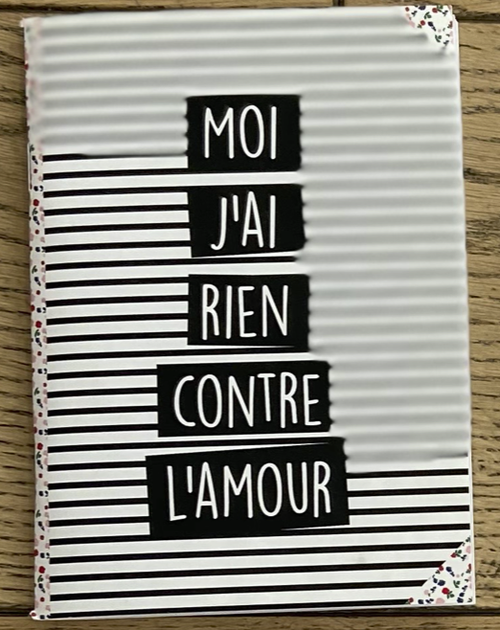 限定1点!フランス小物:ノート『MOI J'AI RIEN CONTRE L'AMOUR』