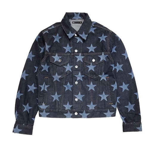 smdsj.0002 star patterned trucker jacket. (MINEDENIM)