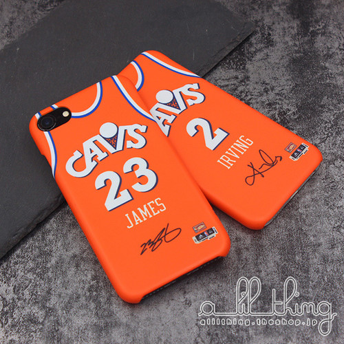 「NBA」クリーブランド キャバリアーズ 1983-87シーズン 復刻ジャージ レブロンジェームズ サイン入り iPhoneX iPhone8 ケース