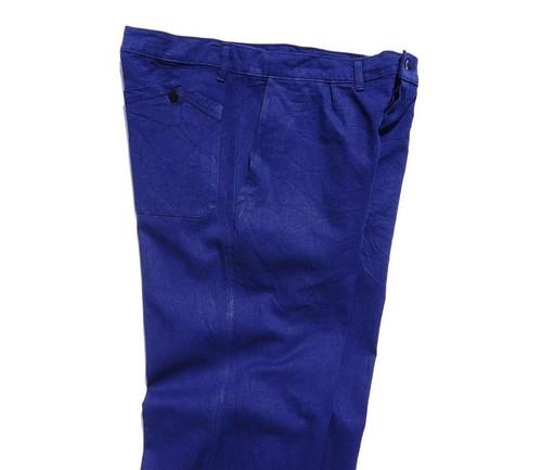 1970's ユーロワークパンツ 山ポケ 1タック ブルー 実寸(W34位) ヨーロッパ