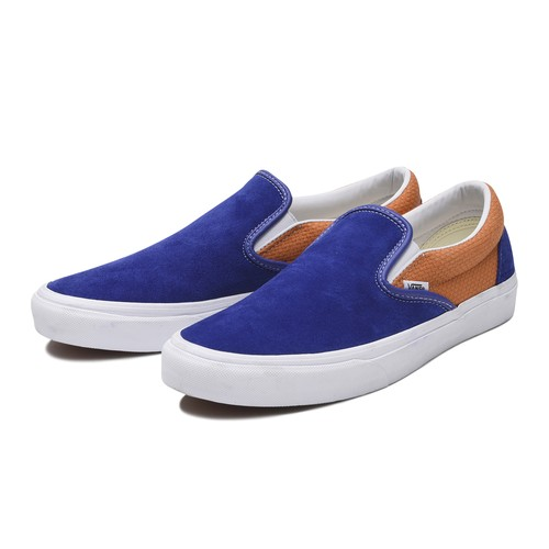 VANS (ヴァンズ) / CLASSIC SLIP-ON (SUEDE) -R.BLUE/A.BUFF-