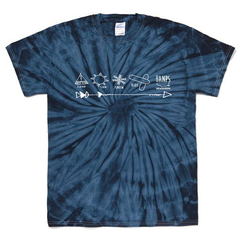 SHORT SLEEVE Tshirt TieDye MK (3.Navy/White) bp-45