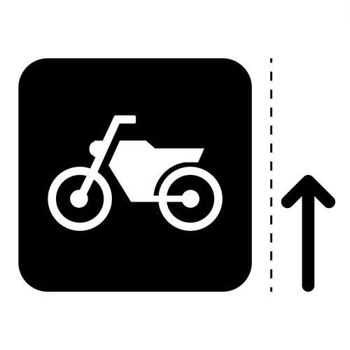 バイク案内マークのカッティングシートステッカー