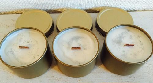 ティン缶アロマキャンドル(ゴールド)