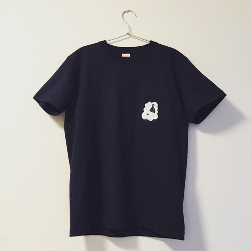 【SALE】shimanagashi pocket tee (navy)