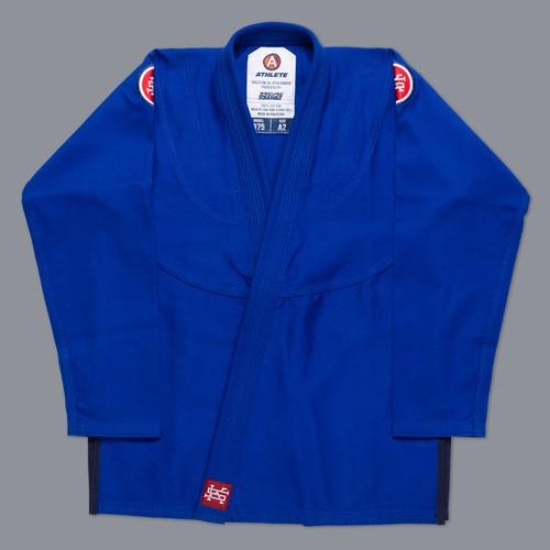 女性用 SCRAMBLE ATHLETE 4:375(女性用カット / ブルー、青)|女性用ブラジリアン柔術衣