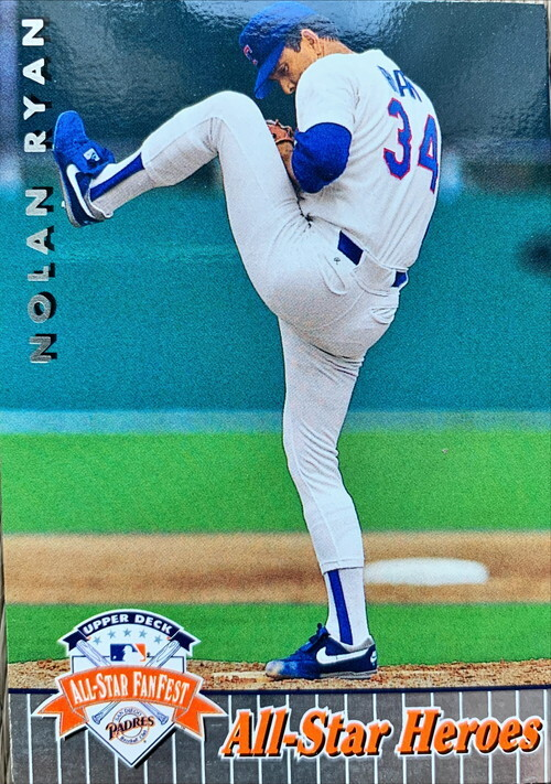 MLBカード 92UPPERDECK Nolan Ryan #37 RANGERS ALLSTAR HEROES