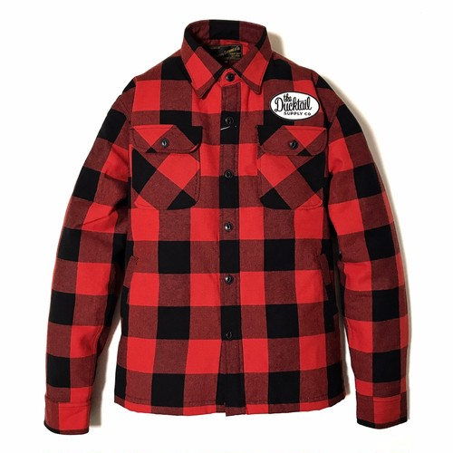 """DUCKTAIL CLOTHING HEAVY FLANNEL CPO JACKET """"BUFFALO"""" RED ダックテイル クロージング CPO ジャケット"""
