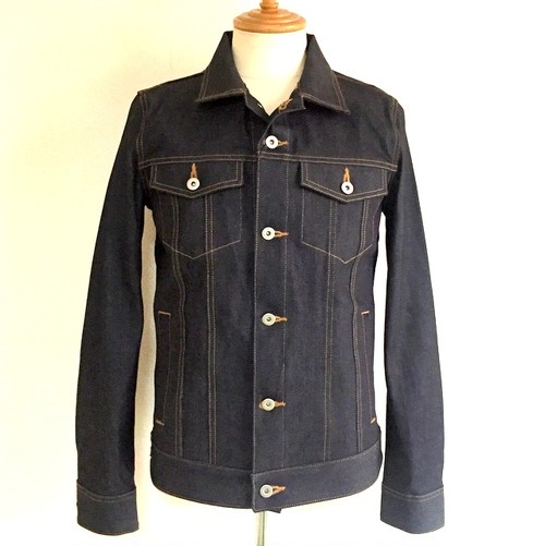 Rigid Denim Blouson Indigo(NAVY2)