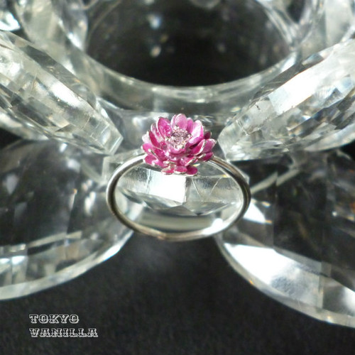 Lotus 蓮の花のリング 【S】 pink × pink